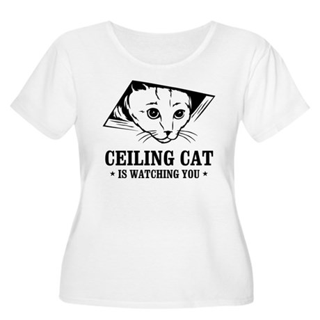ceiling cat is watching you Women's Plus Size Scoo