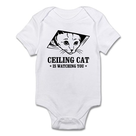 ceiling cat is watching you Infant Bodysuit