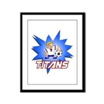 Titans Framed Panel Print