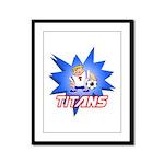 Titans Framed Panel Print