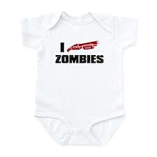 i shotgun zombies Infant Bodysuit