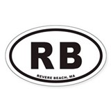 Revere Beach RB Euro Oval Decal