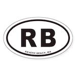 Revere Beach RB Euro Oval Sticker
