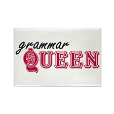 Grammar Queen Rectangle Magnet