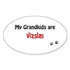 Vizsla Grandkids Oval Decal