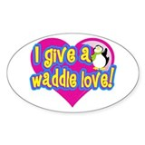 Waddle Love Oval Decal