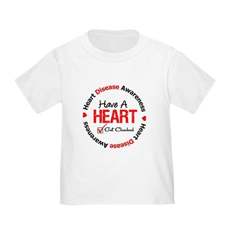 Heart Disease Get Checked Toddler T-Shirt