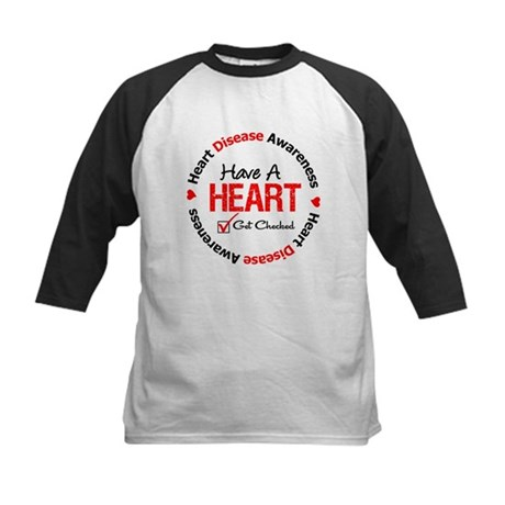 Heart Disease Get Checked Kids Baseball Jersey