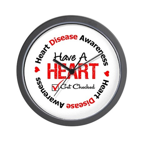Heart Disease Get Checked Wall Clock