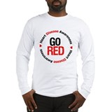 Heart Disease Go Red Long Sleeve T-Shirt