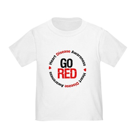 Heart Disease Go Red Toddler T-Shirt