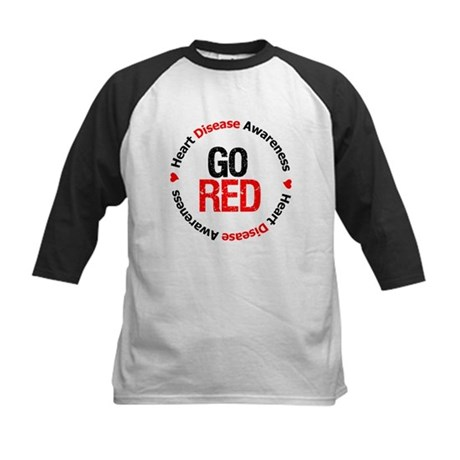 Heart Disease Go Red Kids Baseball Jersey