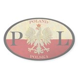 Poland Polska Oval Sticker (50 pk)