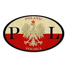 Poland Polska Oval Decal