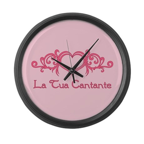 La Tua Cantante Large Wall Clock