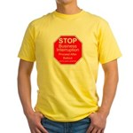 Sign of the times Yellow T-Shirt