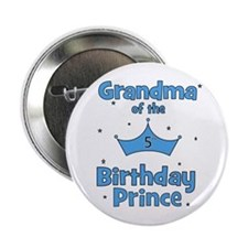"Grandma of the 5th Birthday P 2.25"" Button"