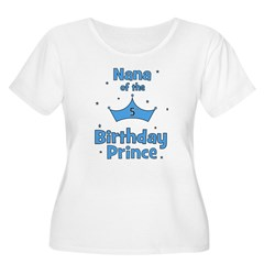 Nana of the 5th Birthday Prin Women's Plus Size Sc