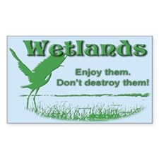 Wetland Rectangle Sticker 10 pk)
