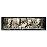 Right-Wing Extremists Bumper Bumper Sticker