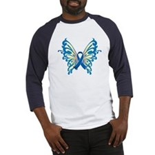 Colon Cancer Butterfly Baseball Jersey