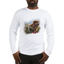 Golden Retriever Art Long Sleeve T-Shirt