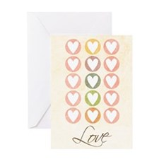 Circled Valentine's Hearts Greeting Card