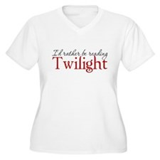 I'd rather be reading Twiligh T-Shirt