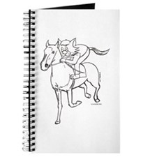 Jockey Horse Riding Cat Journal