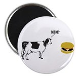 Cow & Hamburger Magnet