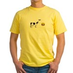 Cow & Hamburger Yellow T-Shirt