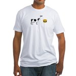Cow & Hamburger Fitted T-Shirt