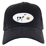 Cow & Hamburger Black Cap