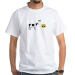 Cow & Hamburger White T-Shirt