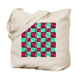 Diner Checks Tote Bag