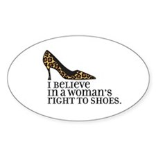right to shoes Oval Sticker