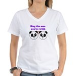 HUG THE ONE YOU'RE WITH Women's V-Neck T-Shirt