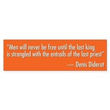 Denis Diderot Quote Bumper Sticker (50 pk)