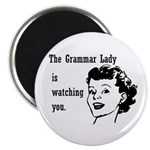 Grammar Lady is Watching You Magnet