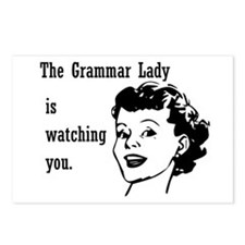 Grammar Lady is Watching You Postcards (Package of