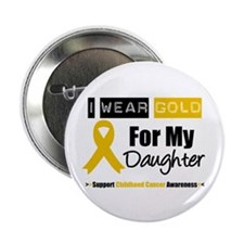 "I Wear Gold Daughter 2.25"" Button"