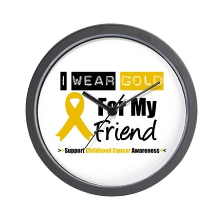 I Wear Gold Friend Wall Clock