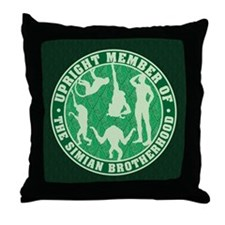 Simian Brotherhood Throw Pillow