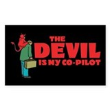 Devil Is My Co-Pilot Rectangle Decal