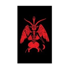 Baphomet Rectangle Sticker 10 pk)