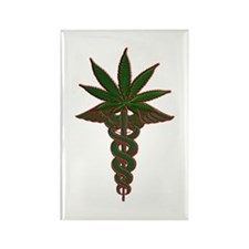 Medical Marijuana Rectangle Magnet (100 pack)