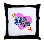 EMS Care Heart Throw Pillow