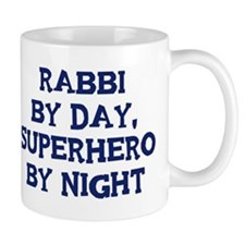 Rabbi by day Small Mug