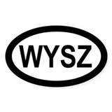 WYSZ Oval Decal