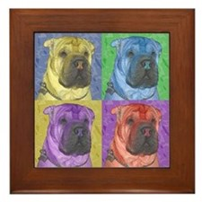 Shar-Pei Framed Tile